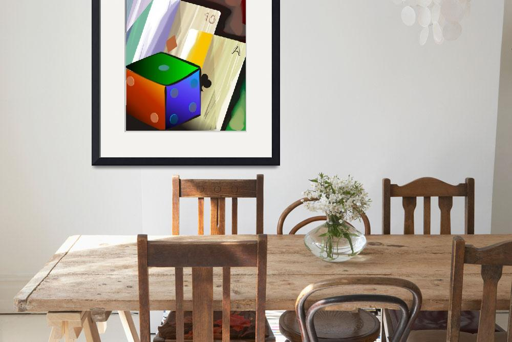 """Card  and cube&quot  (2009) by digitalpainting"