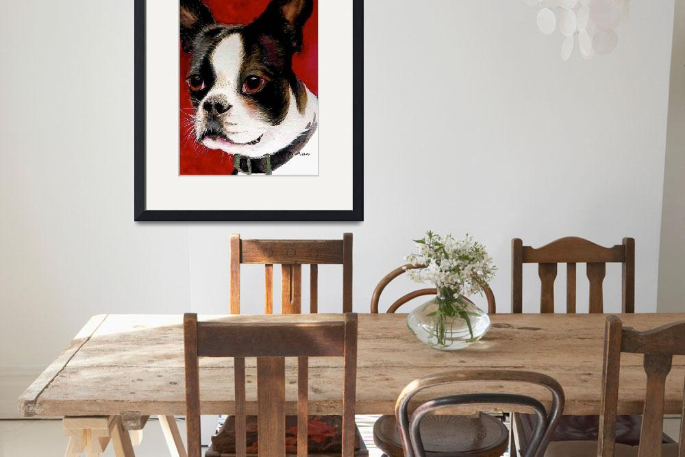 """Boston Terrier&quot  (2006) by Nanwright"