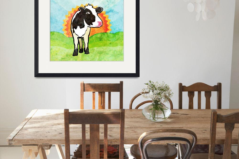 """Dairy Cow&quot  (2012) by maryostudio"
