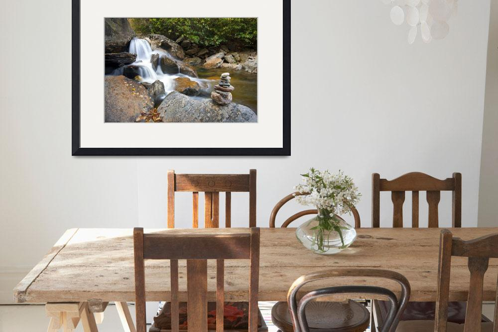 """Harmony - WNC Flowing Waterfall Landscape&quot  (2011) by DAPhoto"