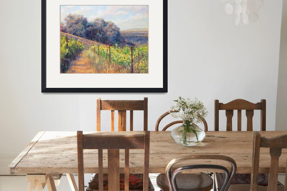 """West Vineyard View&quot  (2012) by MakinArt"