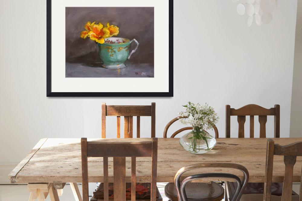 """Teacup and California Poppies&quot  (2010) by mazzon"