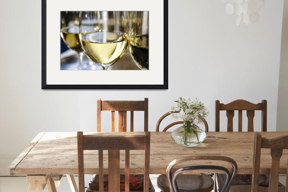 """Close-up of a glass of white wine photograph&quot  (2011) by RF_Photography"