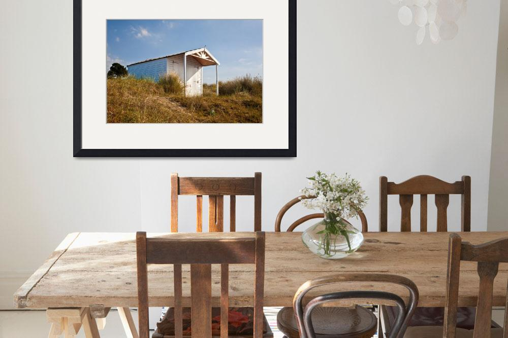 """A beach hut in the Marram Grass at Old Hunstanton&quot  (2010) by JohnEdwards"