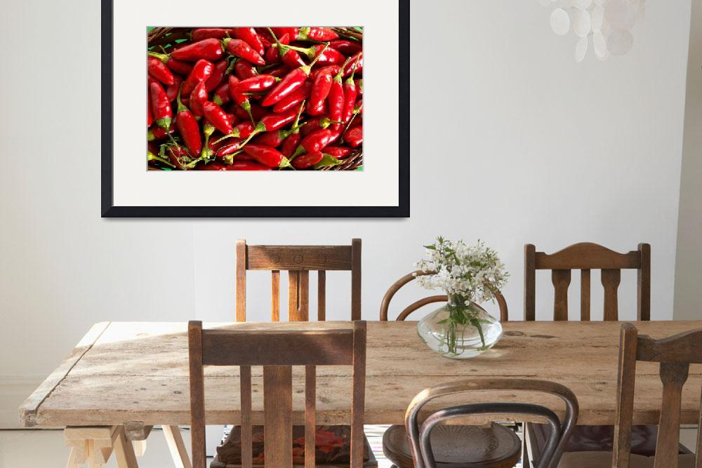 """Chili Background&quot  (2010) by shopartgallery"