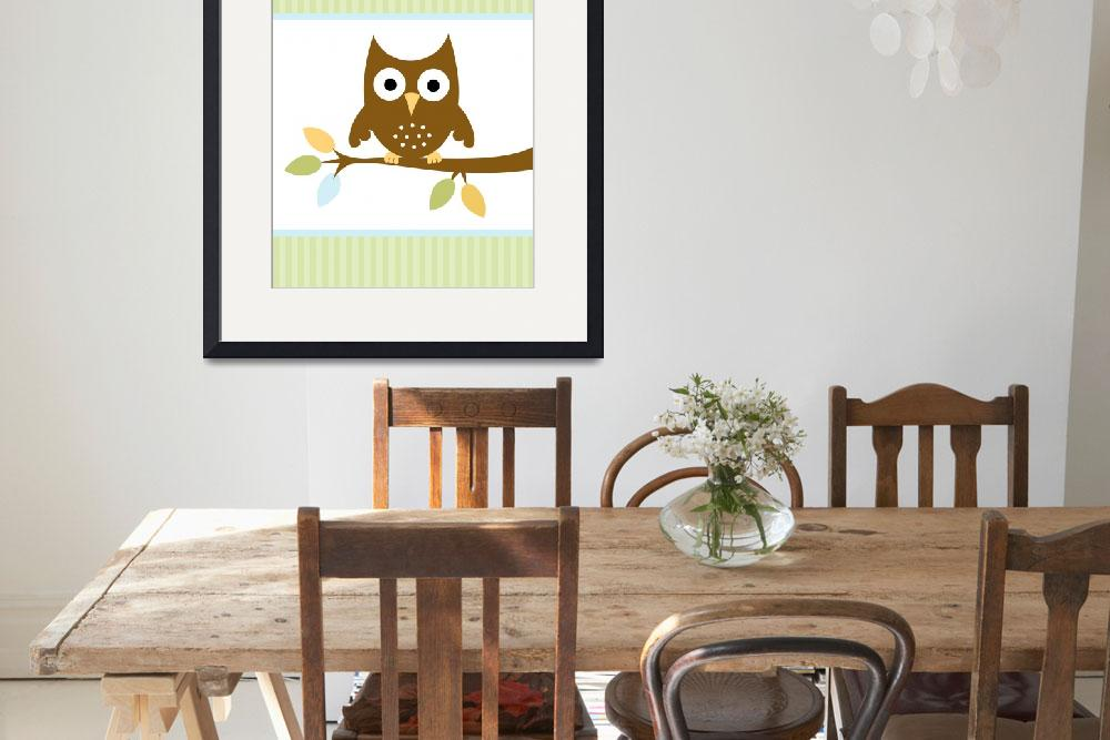 """Owl on Branch&quot  (2009) by cocoastudio"
