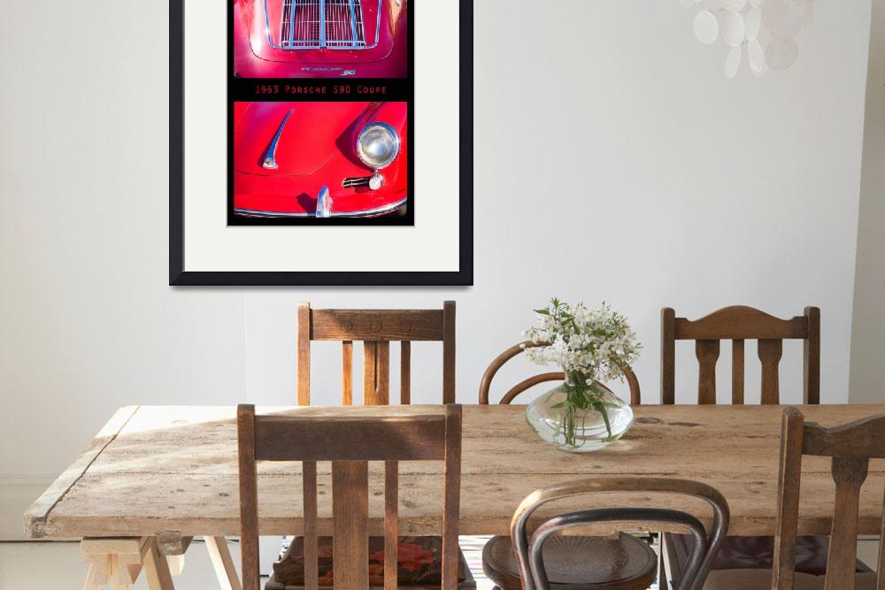 """1963 Red Porsche S90 Coupe Poster&quot  (2011) by lightningman"