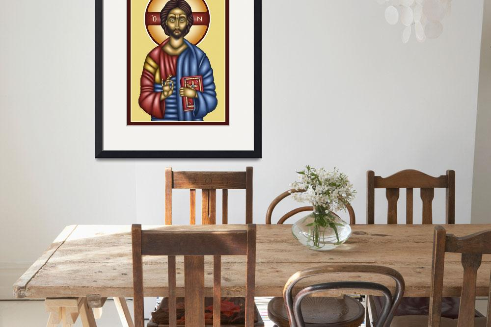 """Christ Pantocrator&quot  (2010) by naks-bg"