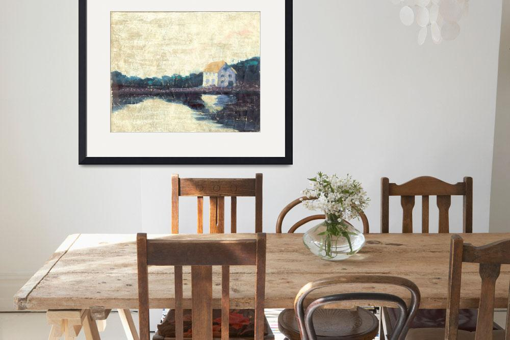 """Riverhouse&quot  (1996) by simmonsfineart"