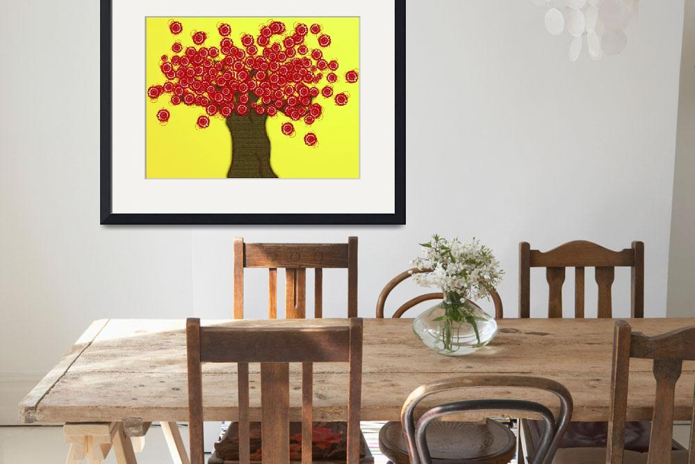 """Red Tree&quot  (2009) by MaryDolan"