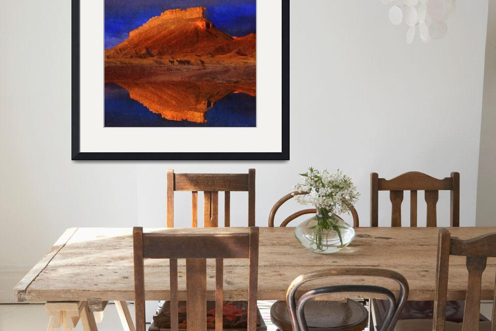 """reflections at miner butte&quot  (2014) by rchristophervest"