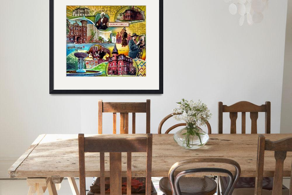 """street-dupont-circle-poster-0767&quot  by travel"