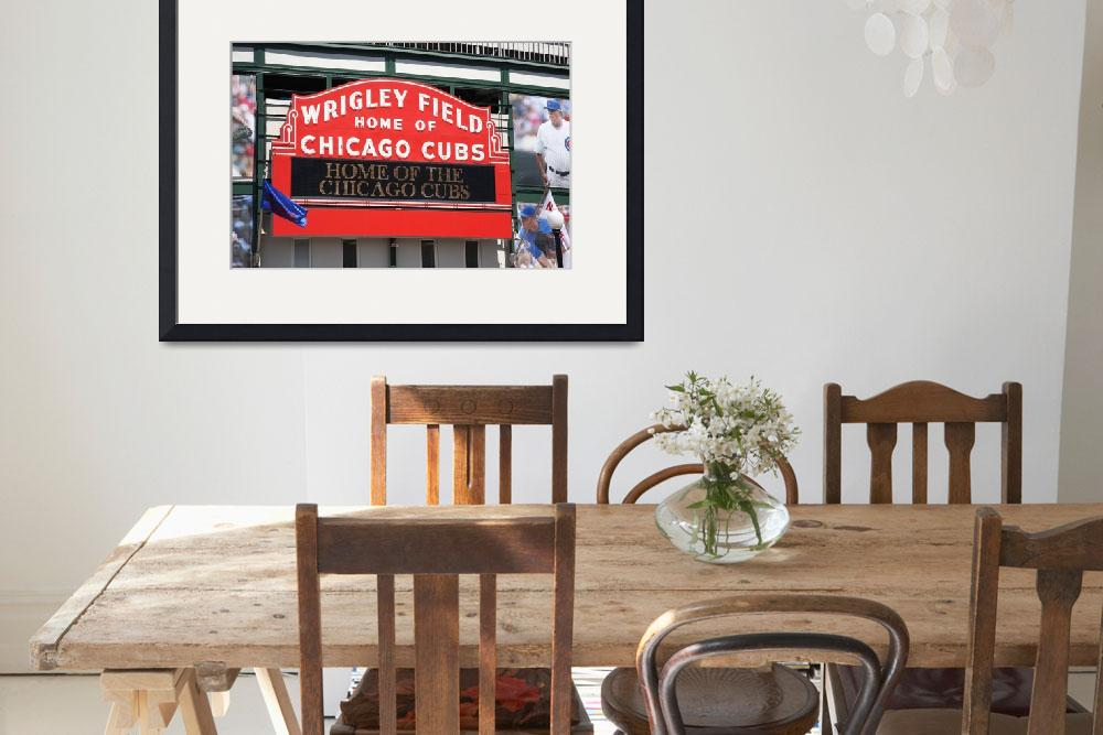 """Chicago Cubs - Wrigley Field&quot  (2010) by Ffooter"