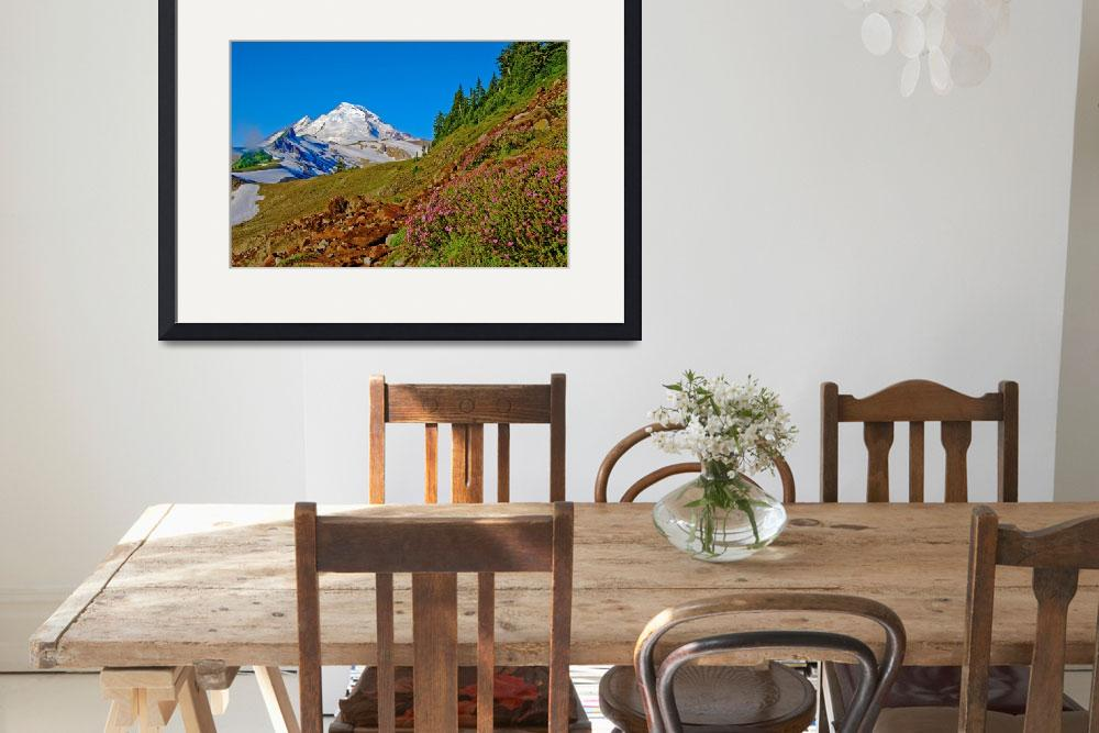 """Mt Baker Path with Wild Flowers&quot  (2007) by robgerman"