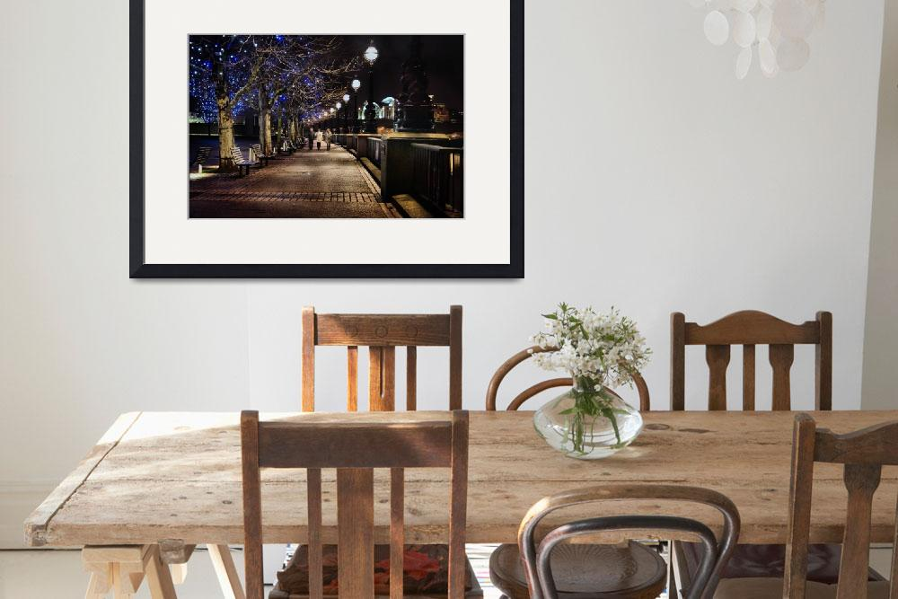 """A Night Walk in London&quot  (2007) by PJPHOTO"