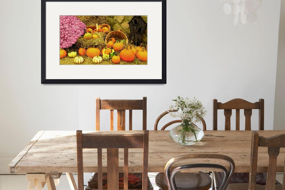"""Fall Colors,Thanksgiving Pumpkin Patch,Pink Mums&quot  (2010) by Chantal"