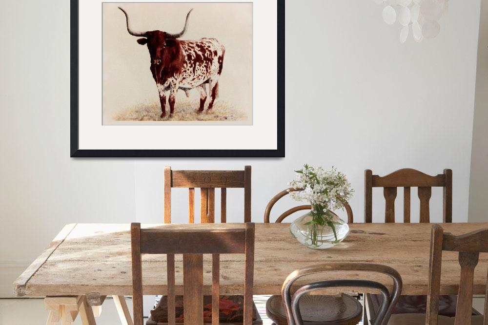 """Longhorn painting&quot  by AnimalsbyDiDi"