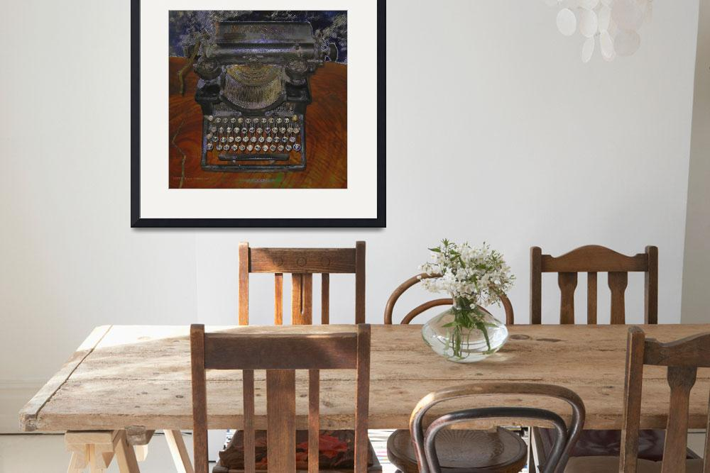 """Old Typewriter on Brown Table&quot  (2009) by artistfaye"