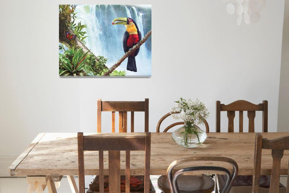 """red breasted toucan by the falls&quot  (2011) by rchristophervest"