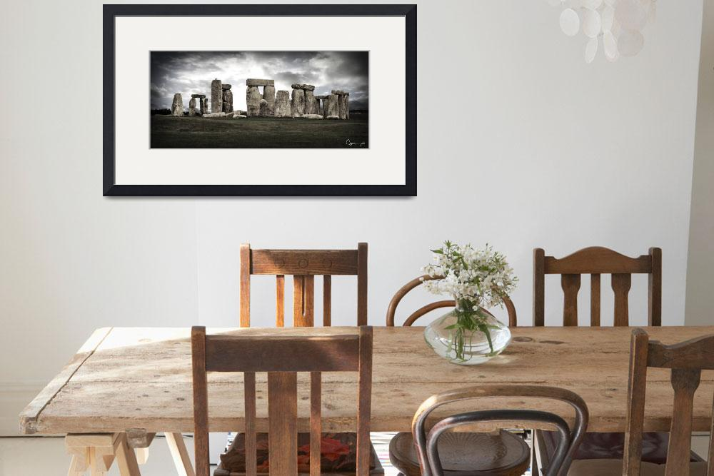 """Stonehenge Panoramic&quot  by ellsworth"