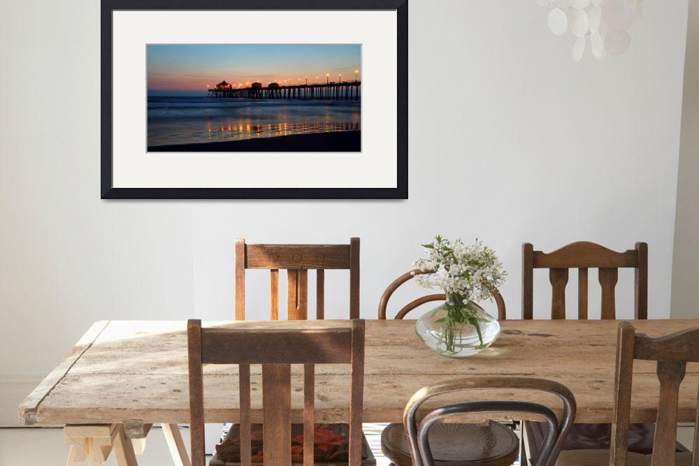 """Huntington Beach pier at sunset&quot  (2010) by pierreleclerc"