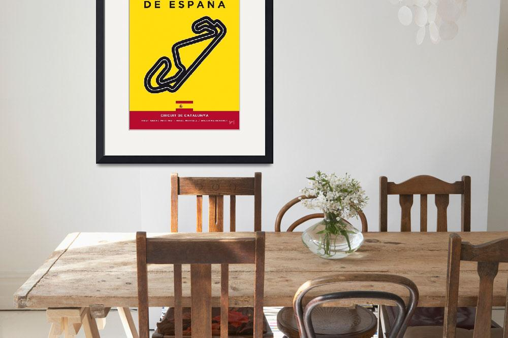 """My F1 CATALUNYA Race Track Minimal Poster&quot  by Chungkong"