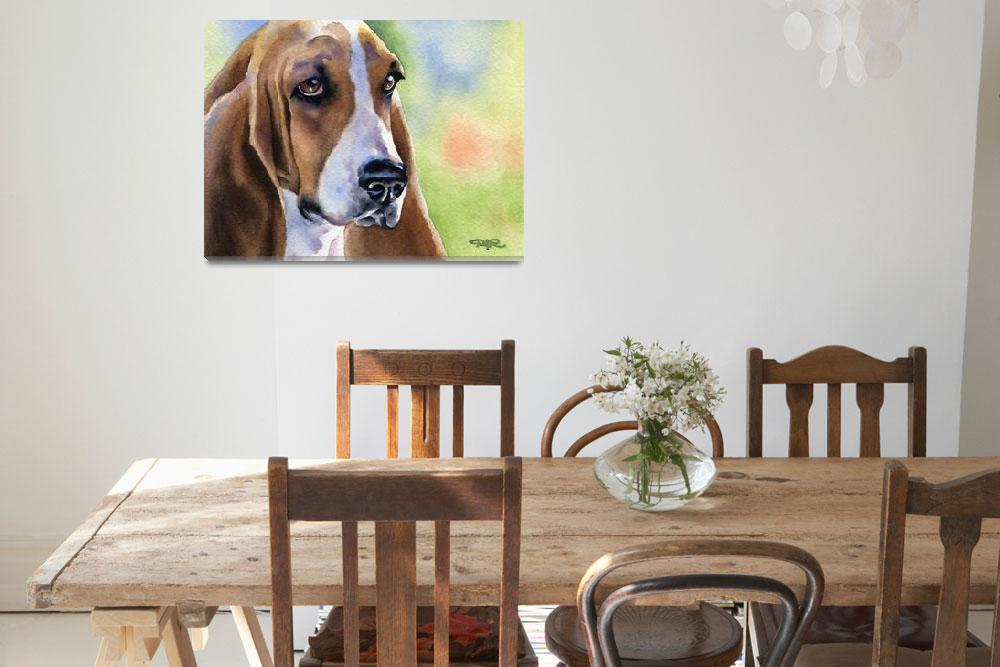 """Basset Hound&quot  (2007) by k9artgallery"