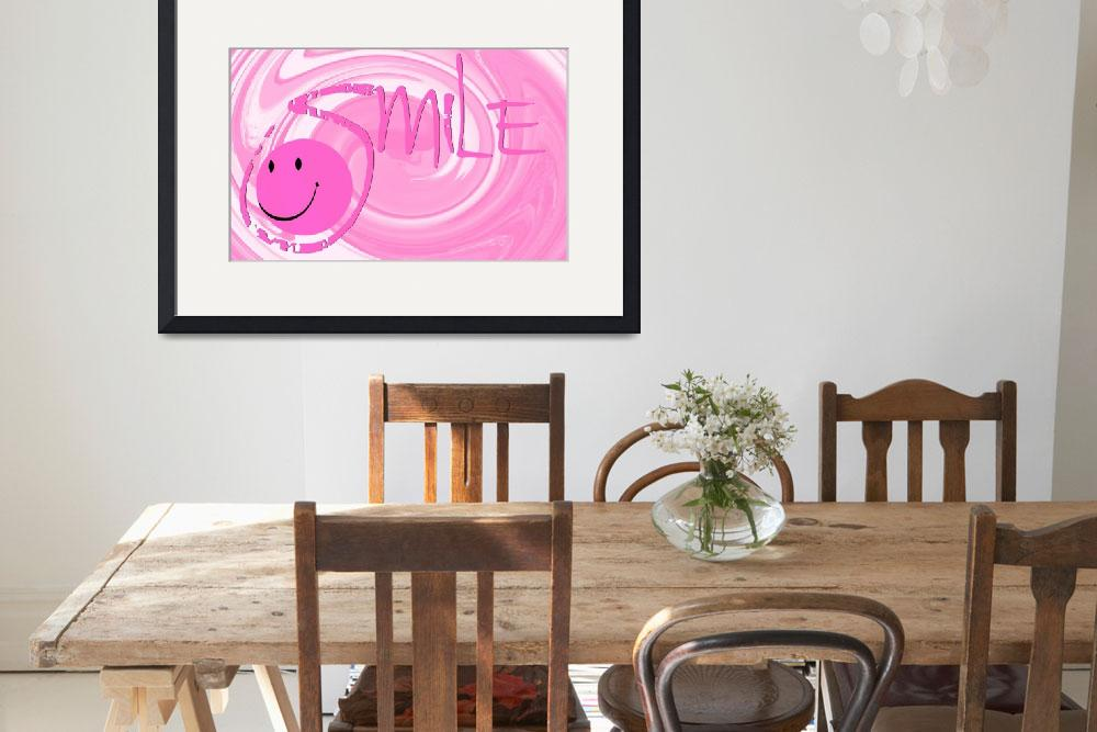"""smile pink swirl&quot  by lizmix"