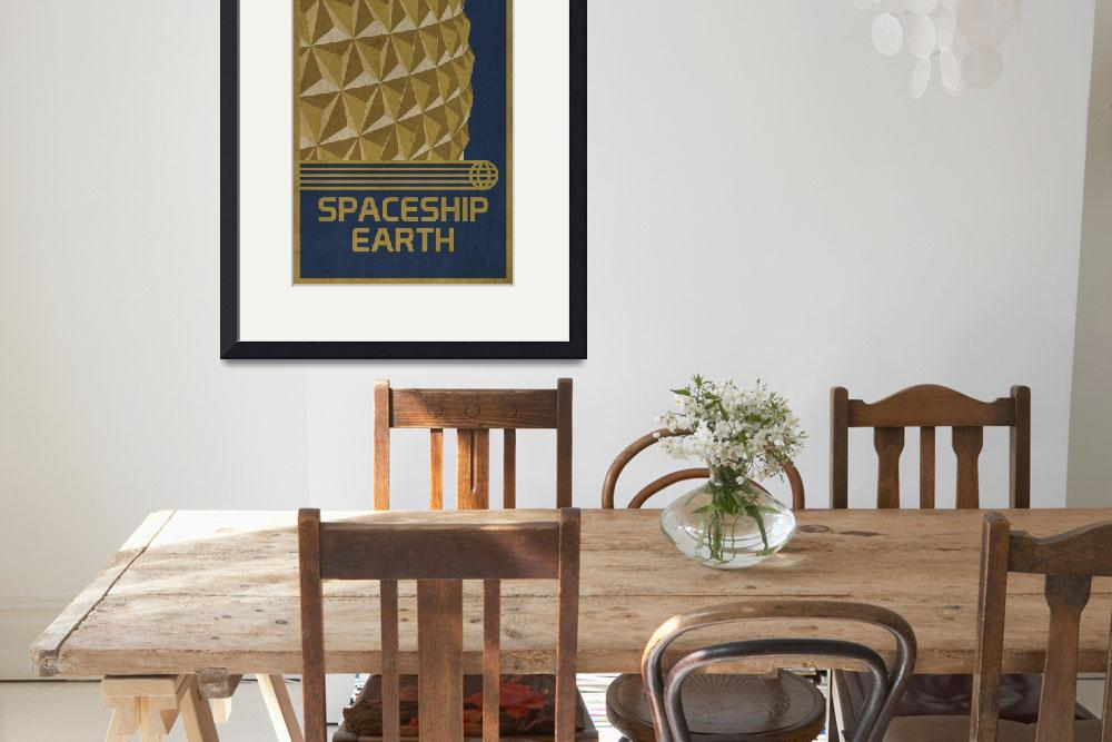 """Spaceship Earth&quot  (2010) by scbb11Sketch"