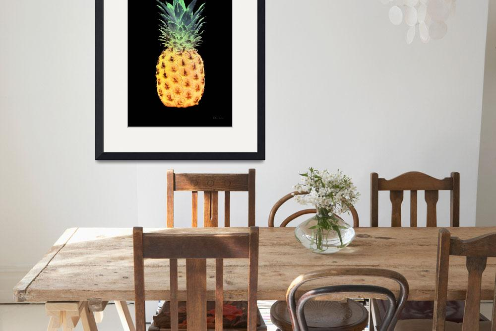 """14r Abstract Expressive Pineapple Digital Art&quot  (2016) by Ricardos"
