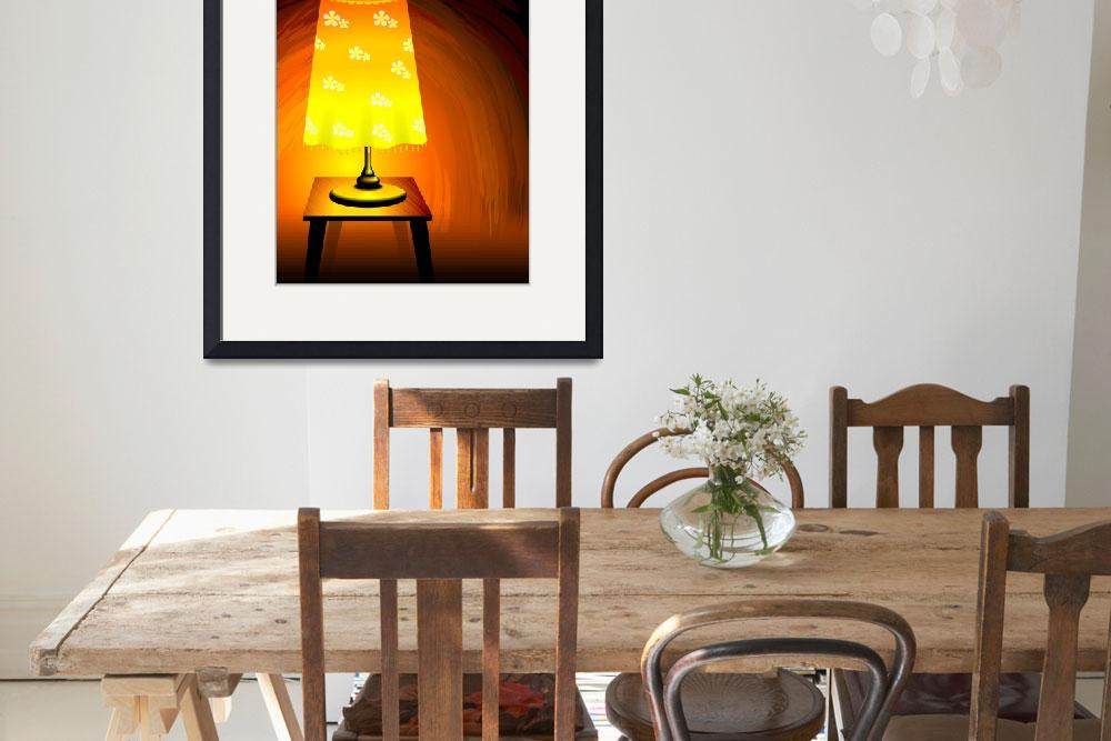 """Brightness of the table lamp&quot  (2011) by digitalpainting"
