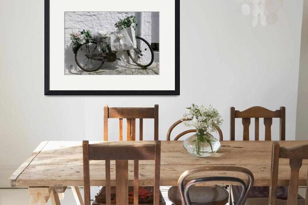 """Bicycle parked against a wall&quot  by Panoramic_Images"