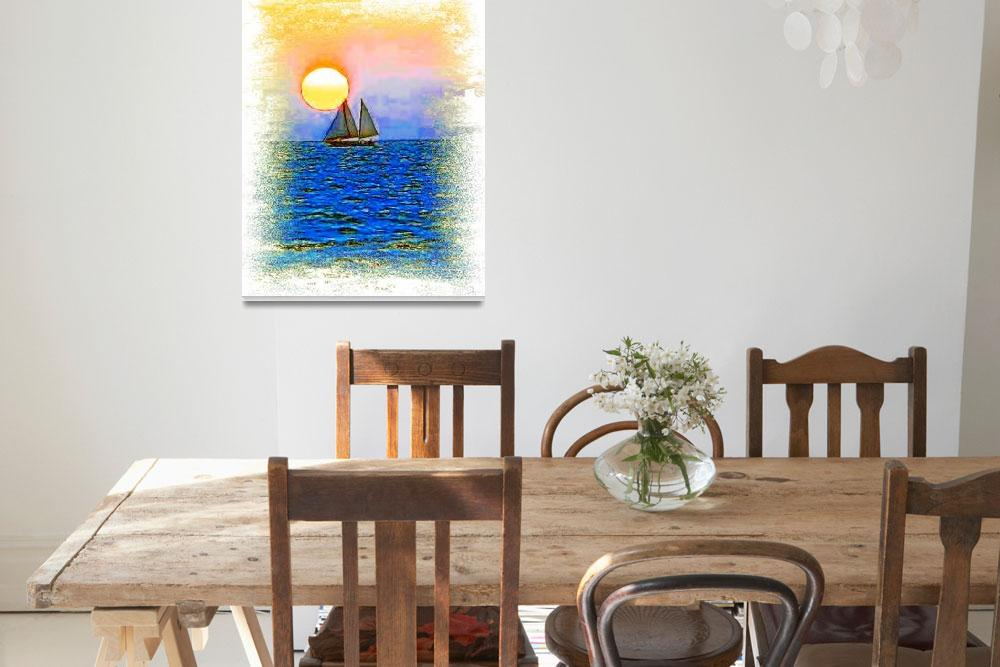 """Sunset Sail&quot  (2008) by glink"