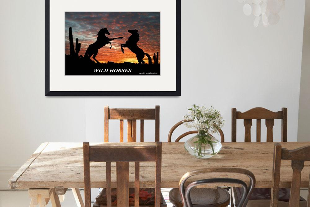 """wild horses&quot  by photo-design-online"