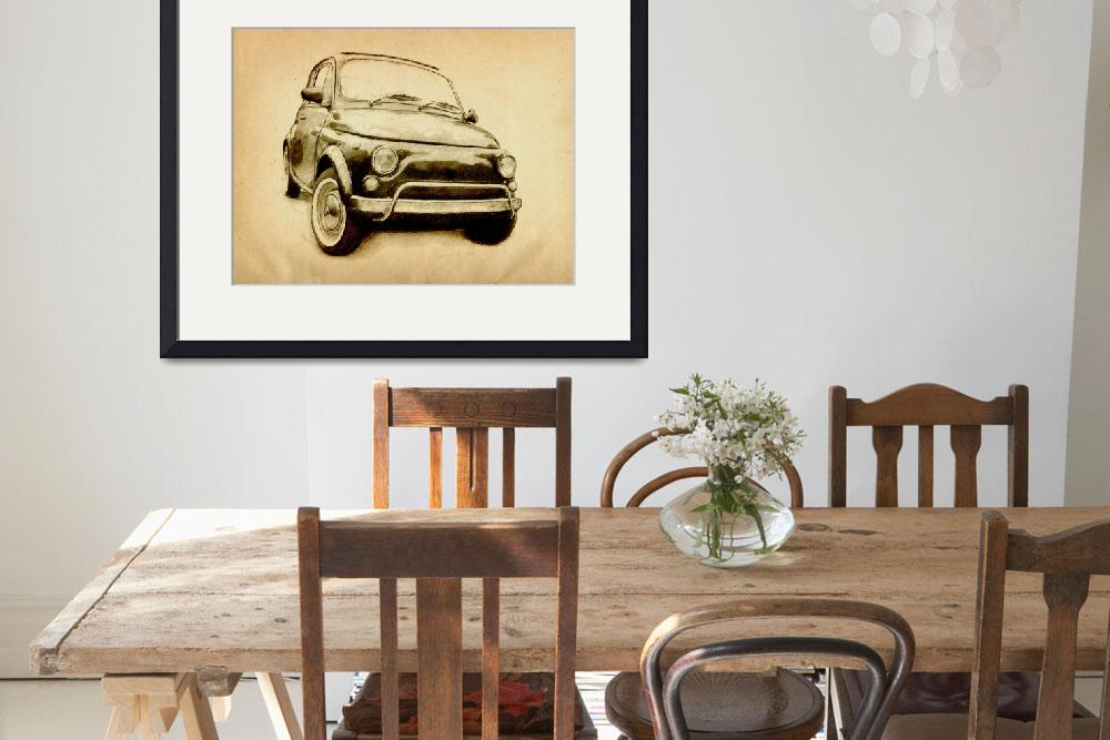 """Fiat 500L 1969&quot  (2010) by ModernArtPrints"