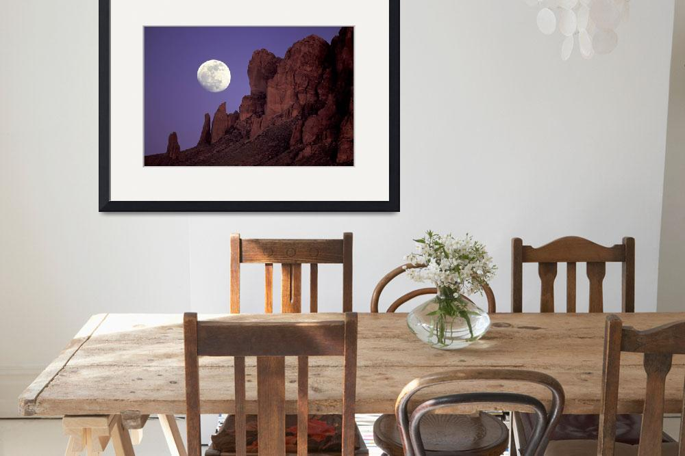 """Moon Over Superstition Mountains&quot  (1993) by FrankZullo"
