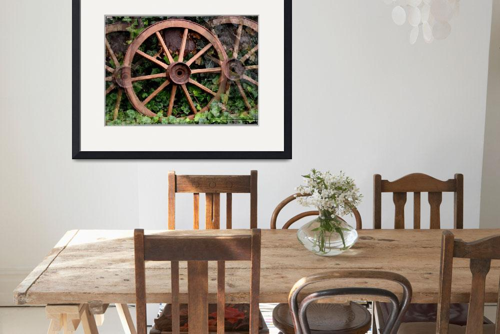 """Country western wagon wheels&quot  by sherryswest"