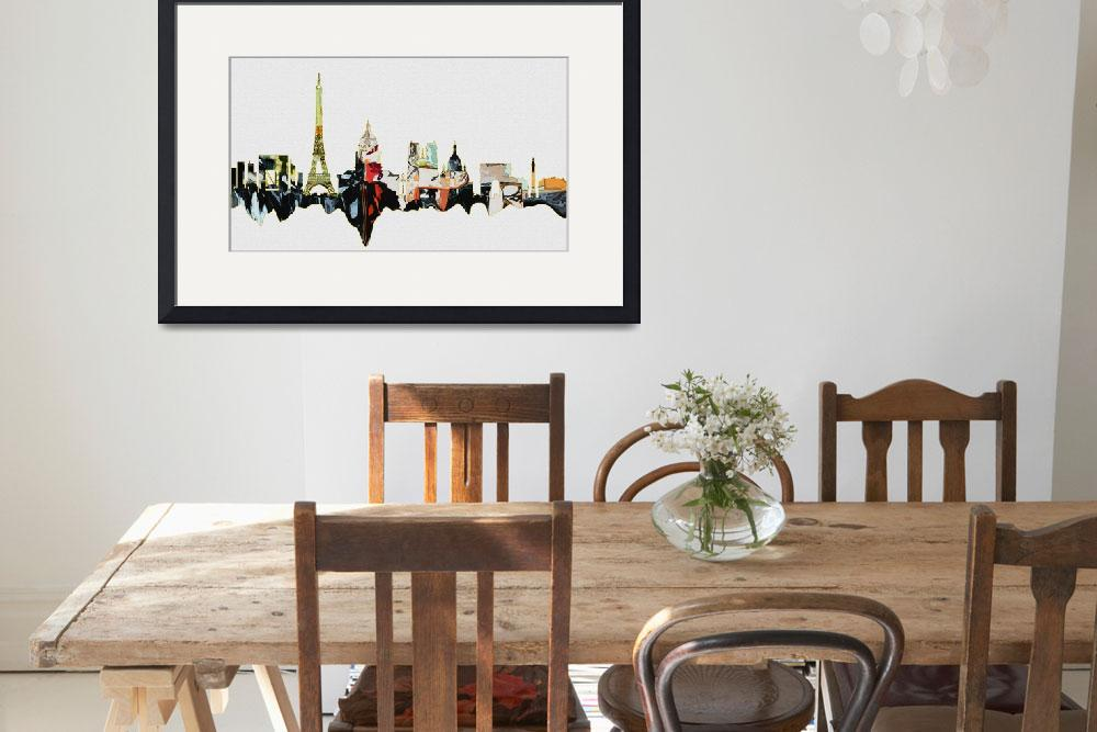 """City Skyline Art Paris 2 Modern Decor&quot  (2014) by GinetteCallaway"