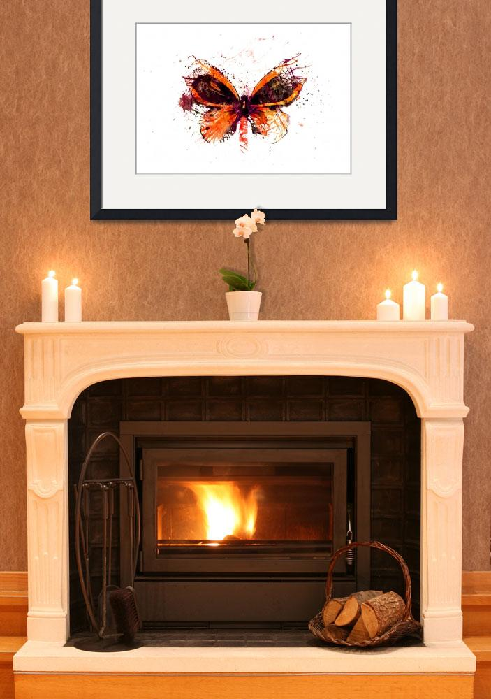 """Forgotten - Orange Butterfly - Art - Digital Print&quot  (2013) by artificialhappiness"