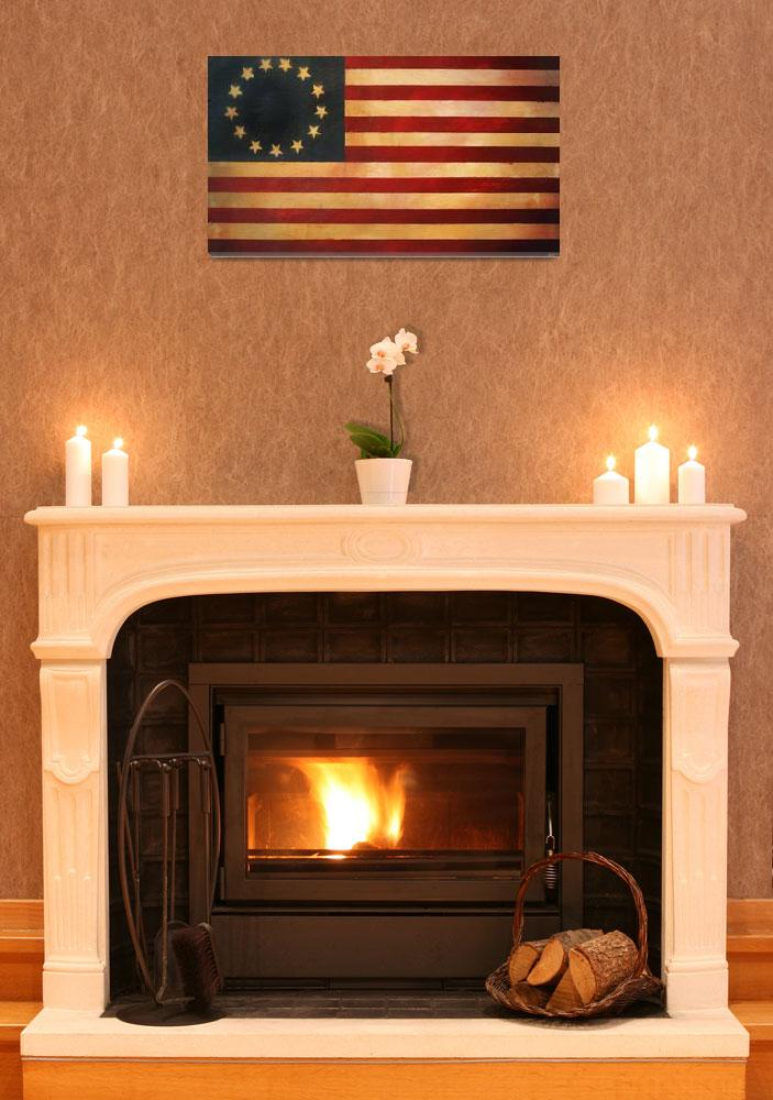 """Betsy Ross Vintage Flag&quot  (2009) by AV"