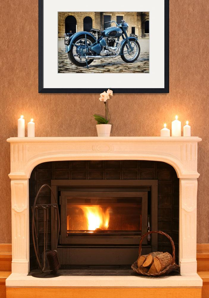 """1953 Triumph Thunderbird&quot  (2004) by mark-rogan"
