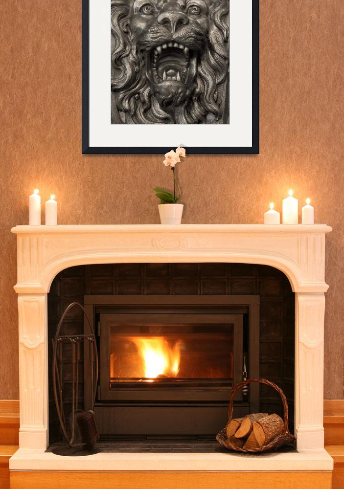 """Fireplace Lion&quot  (2012) by SederquistPhotography"