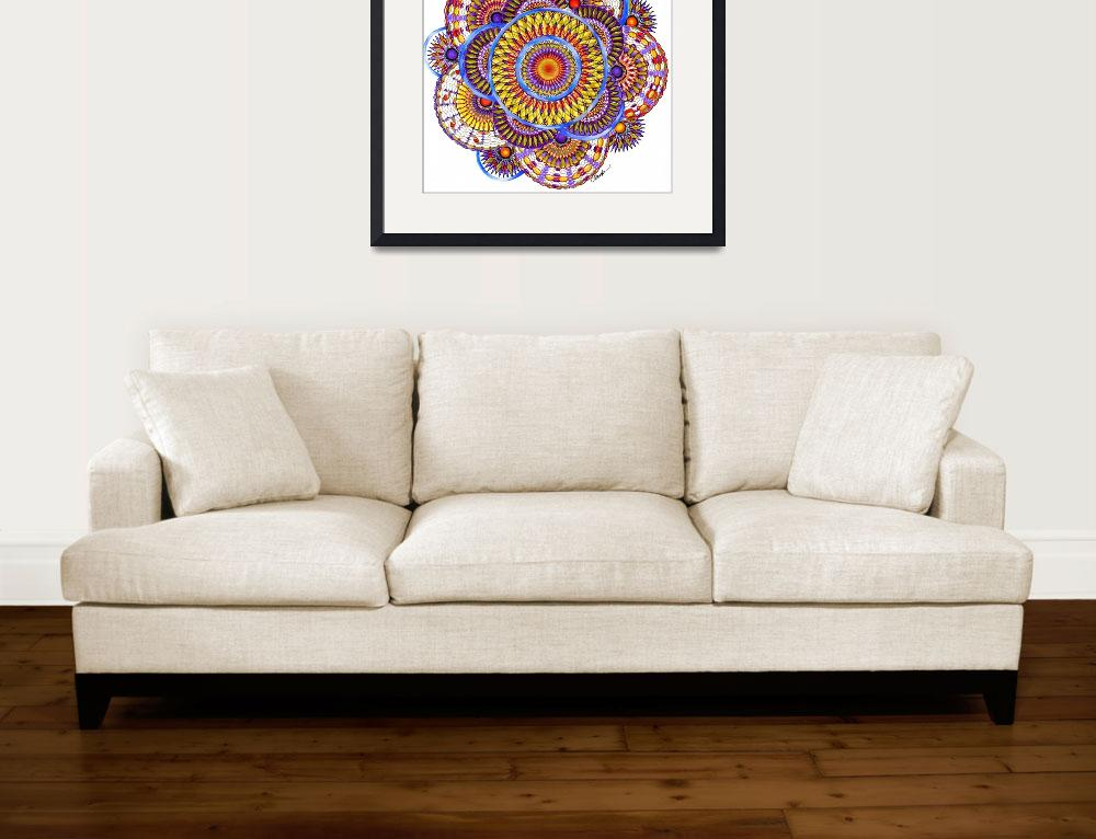 """Candy Corn Harvest Mandala&quot  (2011) by AlmaLee"