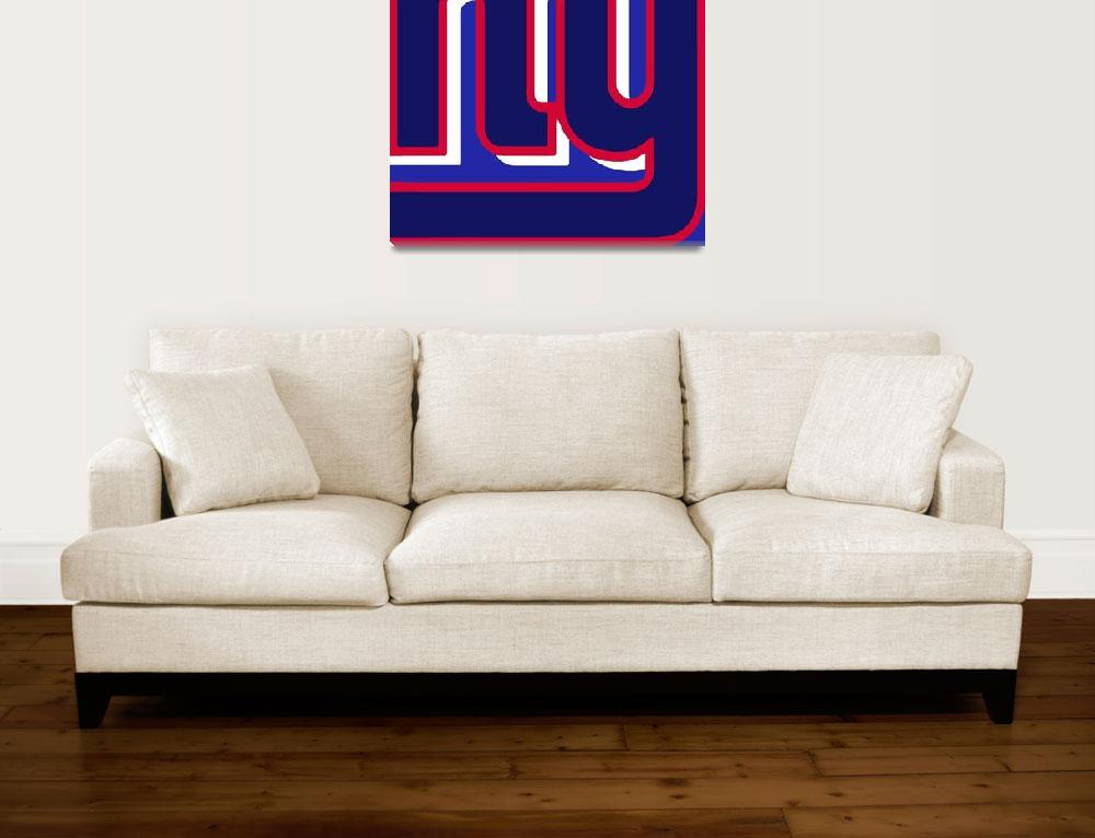 """New York Giants Football 3&quot  (2013) by RubinoFineArt"
