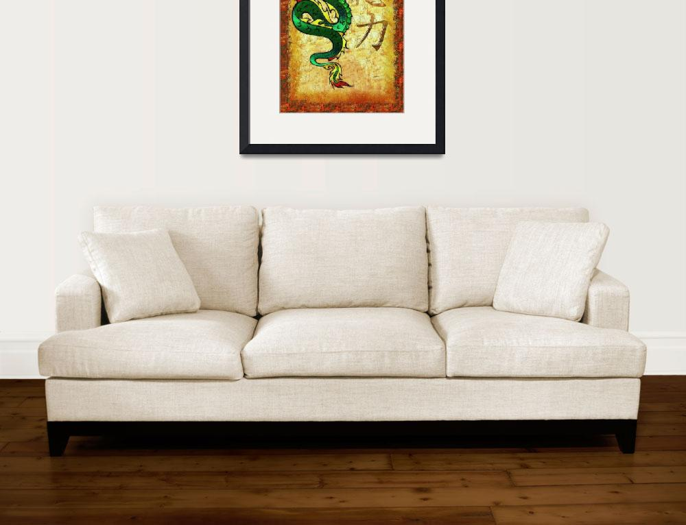 """Chinese Dragon POWER Tradtional Motif&quot  (2012) by ReneeLozenGraphics"