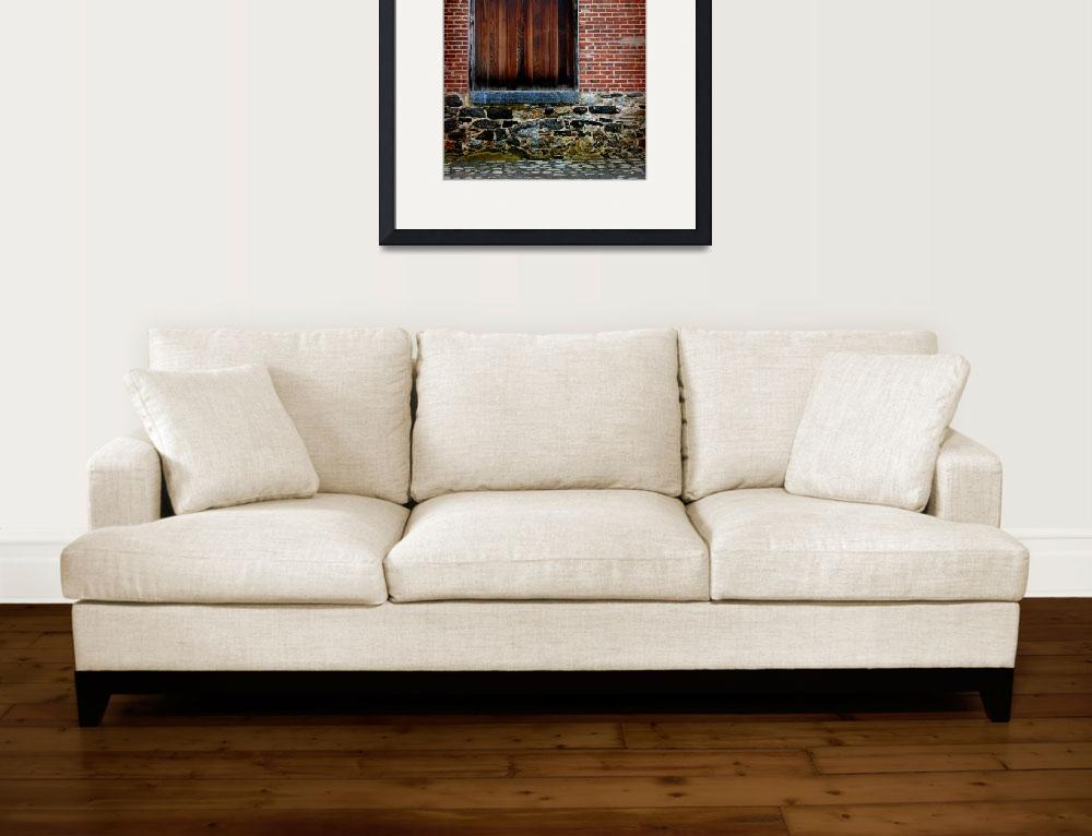 """Wood Window Brick Wall&quot  (2014) by KsWorldArt"