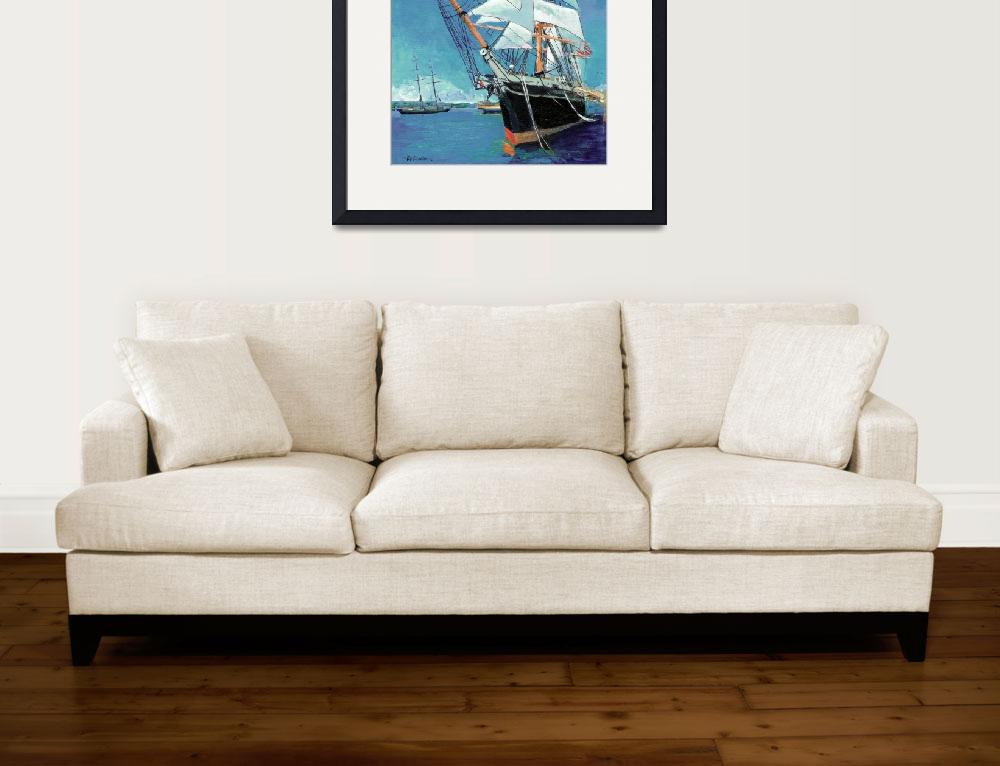"""Tallship Star of India San Diego&quot  (2007) by BeaconArtWorksCorporation"