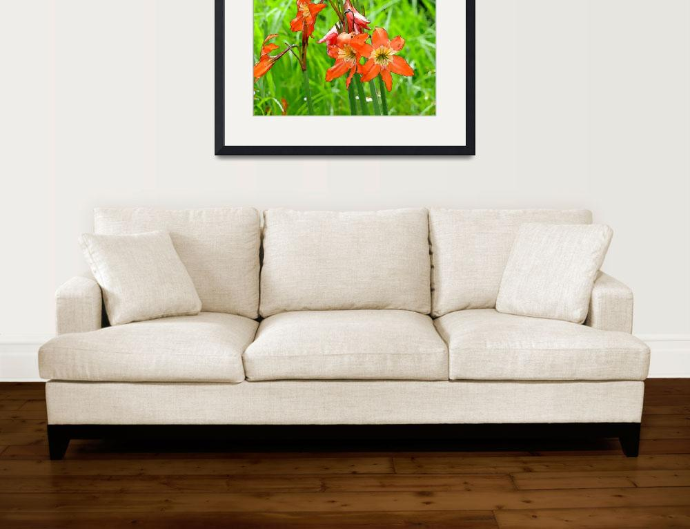 """Wild Flowers Red Lirios&quot  (2010) by Caribbean-Digital-Art"