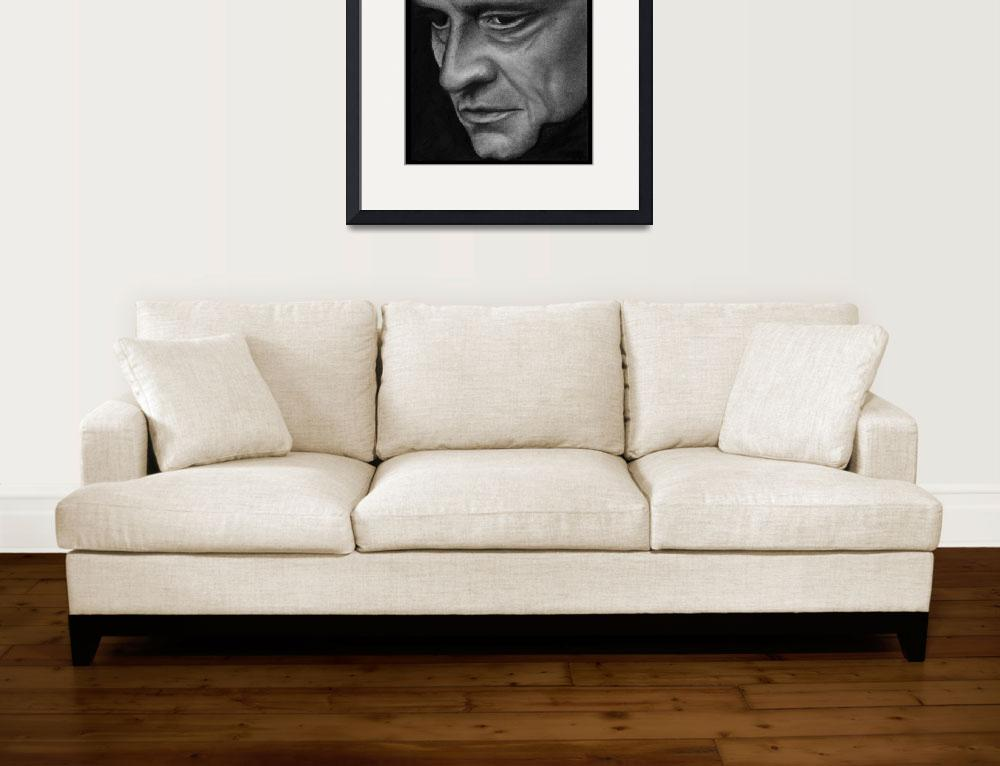 """Johnny Cash&quot  (2010) by ArtByAlycia"