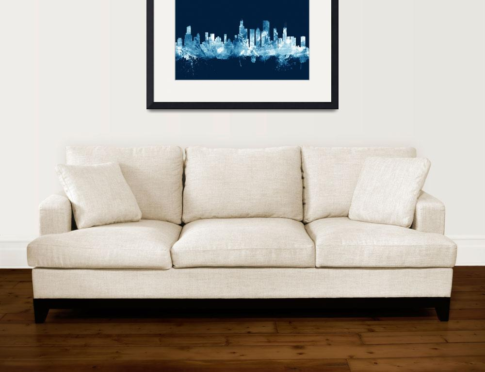 """Chicago Illinois Skyline&quot  (2015) by ModernArtPrints"